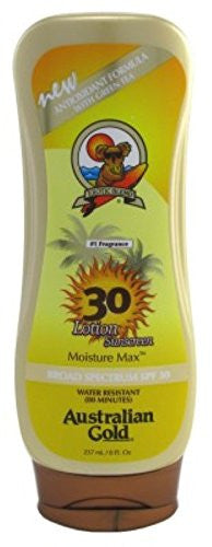 Australian Gold Spf#30 Lotion 8 Ounce Water Resistant Sunscreen (235ml) (3 Pack)