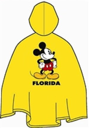 Disney Mickey Mouse Adult Rain Poncho - SHOPME.COM
