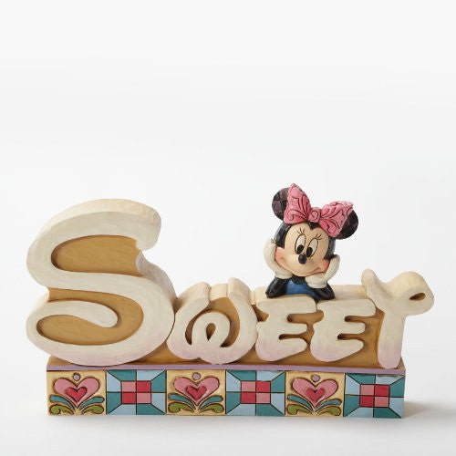 Enesco Disney Traditions by Jim Shore Minnie Mouse Sweet Figurine, 4.125-Inch - SHOPME.COM