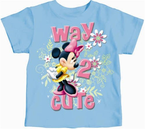 Officially Licensed Disney Toddler Minnie Mouse Way 2 Cute T-shirt, 2T