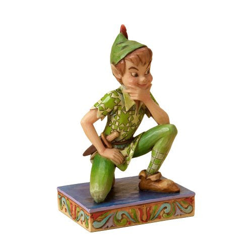 Disney Traditions by Jim Shore Peter Pan Stone Resin Figurine - SHOPME.COM
