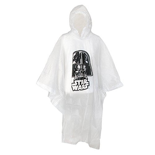 Disney Adult Star Wars Darth Vader Clear Rain Poncho, Clear - SHOPME.COM