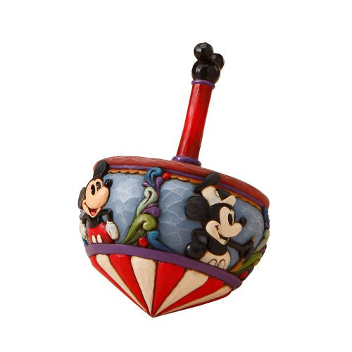 Disney Traditions by Jim Shore 4016586 Mickey Mouse Spin Top Figurine 7-Inch - SHOPME.COM