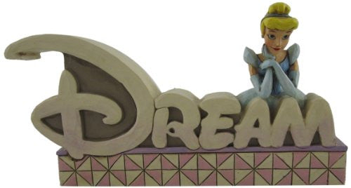 Disney Traditions by Jim Shore Dream Inspirational Word Plaque 4-1/2-Inch
