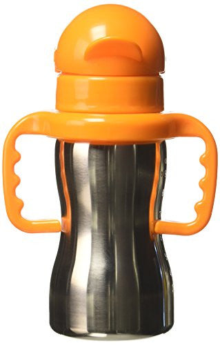 thinkbaby Thinkster Steel Bottle, Silver - SHOPME.COM