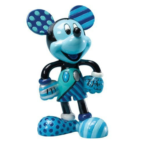 "Disney by Britto from Enesco Blue Period Mickey Figurine 4.25"". by Enesco - SHOPME.COM"