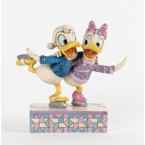 Enesco Donald and Daisy Skating - Christmas Snowmen Holiday Collectibles 4033269-ENESCO