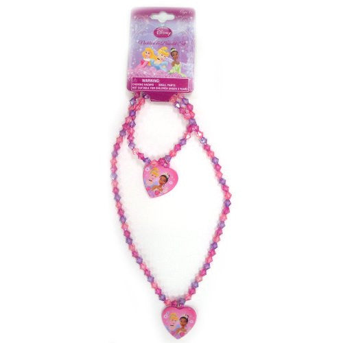 Disney Princess Necklace & Bracelet Set 2 Styles - SHOPME.COM