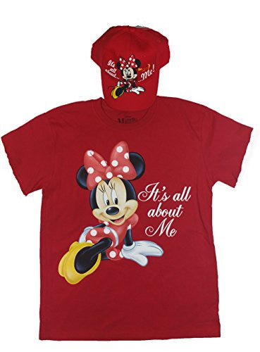 Disney Theme Park Bundle (T-shirt, Baseball Cap) (M, Minnie women)