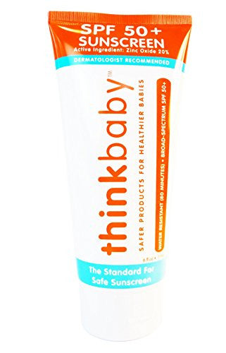 Thinkbaby Safe Sunscreen SPF 50+, 6 Ounce - SHOPME.COM