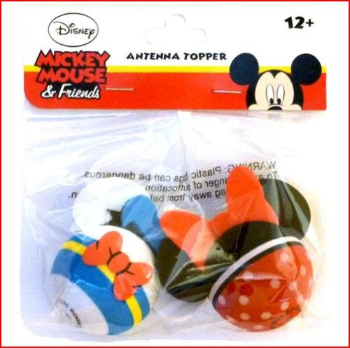 Donald Duck and Minnie Mouse Body Antenna Toppers - SHOPME.COM