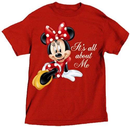 Disney Ladies T Shirt All About Me Minnie - Red - Small - SHOPME.COM