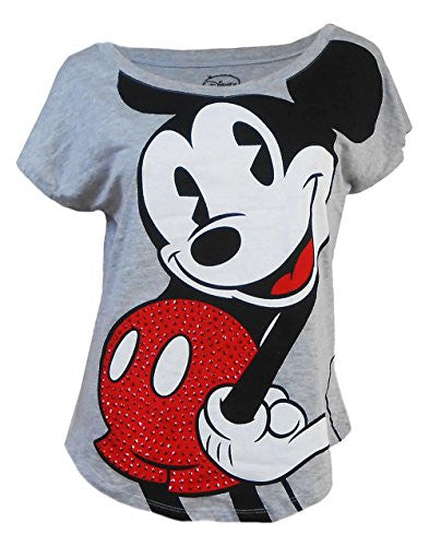 Disney Womens Mickey to The Max Bling T-Shirt - SHOPME.COM