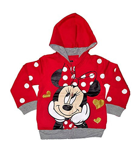 Disney Baby Mickey Mouse or Minnie Mouse Toddler Fashion Sweat Shirt Hoodie (2T)
