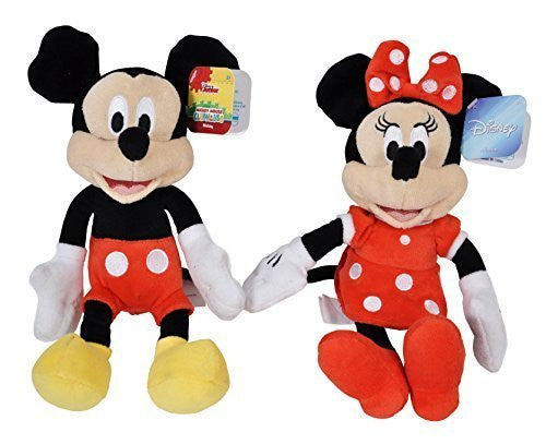 "Disney Mickey and Minnie Mouse 9"" Bean Plush - 2 Pack - SHOPME.COM"