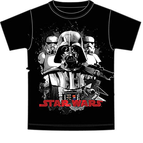 Star Wars Darth Vader & Empirical Storm Troopers Boys T Shirt - Black - SHOPME.COM