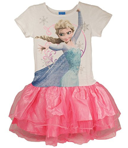 Frozen Disney Queen Elsa Tutu Youth Girls Dress Costume - SHOPME.COM