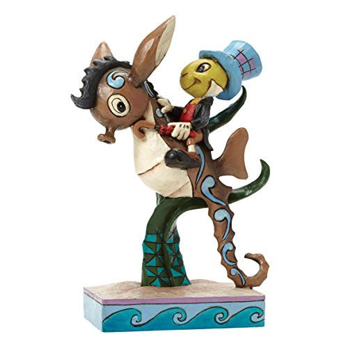 "Department 56 Disney Traditions by Jim Shore Jiminy Cricket on Sea Horse Figurine, 6"" - SHOPME.COM"