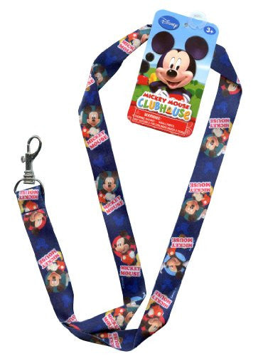 "Disney Junior 17"" Lanyard - Mickey Mouse Strap! Badge or Season Pass Holder! Display Collectible Disney Land Pins 2"" Lobster Clasp"