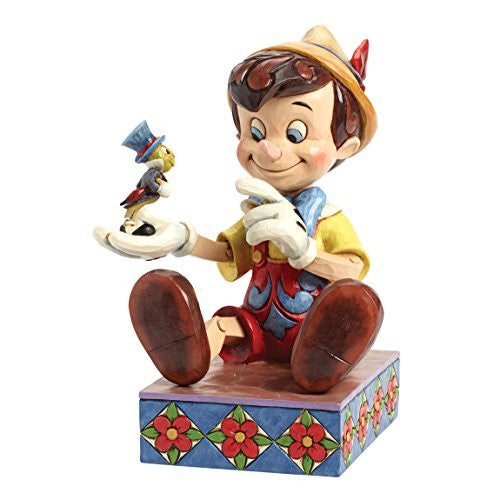 "Department 56 Disney Traditions by Jim Shore Pinocchio 75th Anniversary Figurine, 7"" - SHOPME.COM"