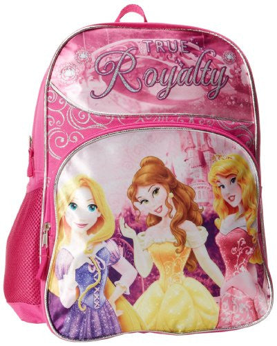 Disney Little Girls' Princess 16 Inch True Royalty Backpack, Pink, One Size - SHOPME.COM