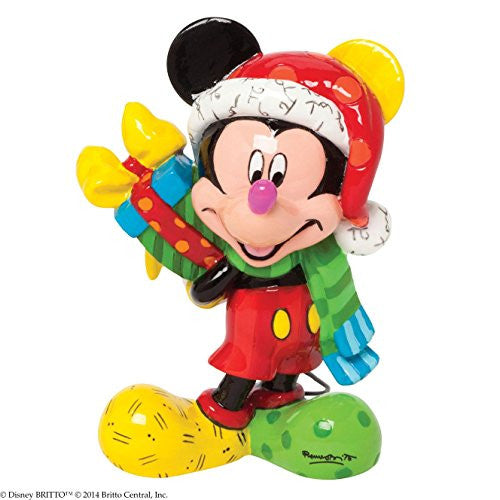 Enesco Disney by Britto Gift Gift Santa Mickey 3.25-Inch Figurine, Mini - SHOPME.COM
