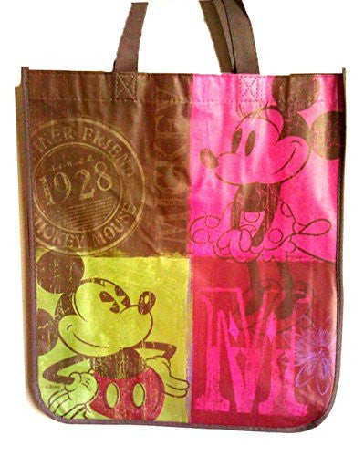 Large Mickey and Minnie Mouse Non-woven Tote Bag (Vintage Look) - SHOPME.COM