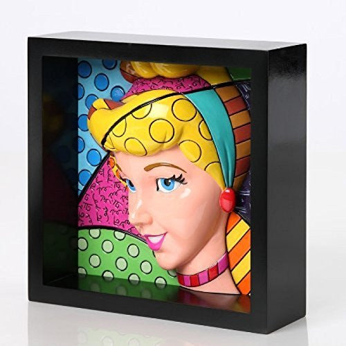 Romero Britto Disney Cinderella Pop Princess Art Block Display 4033869 New - SHOPME.COM