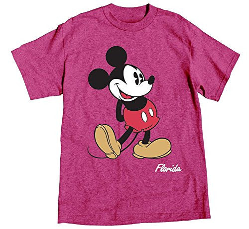 Disney Adult Womens T-shirt Mickey Mouse Head to Toe, Island Pink Heather