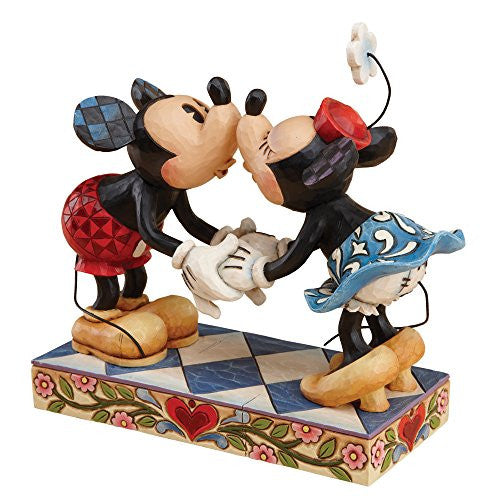 Disney Traditions by Jim Shore Mickey and Minnie Mouse Kissing Stone Resin Figurine - SHOPME.COM