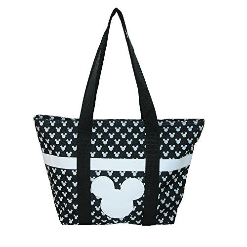 Disney Mickey and Minnie Mouse Icon Polka Dot Travel Beach Tote - SHOPME.COM