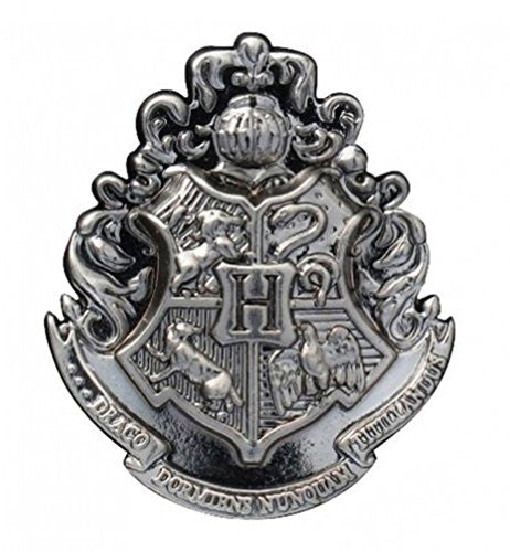 Harry Potter Hogwarts School Crest Pewter Lapel Pin - SHOPME.COM