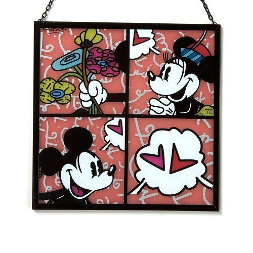 "Disney by Britto from Enesco Mickey & Minnie Suncatcher 7"". - SHOPME.COM"