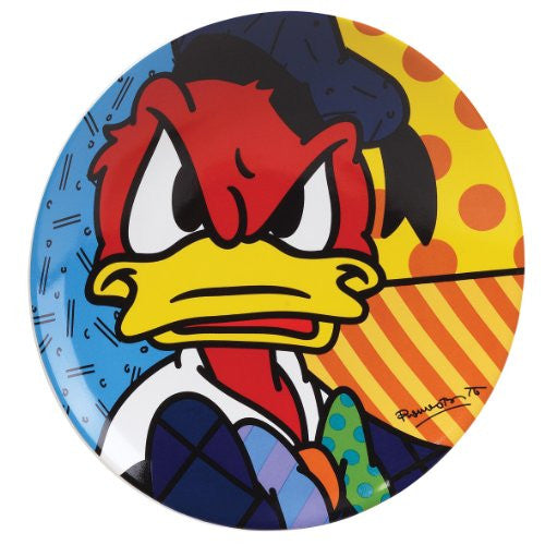 Disney by International Artist Romero Britto for Enesco Donald Duck Plate 8 IN
