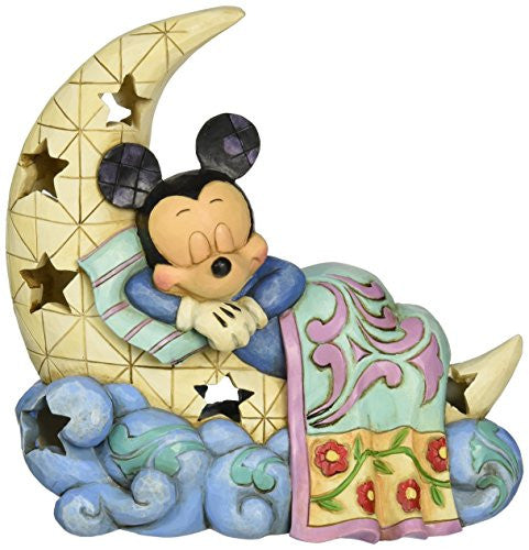 "Department 56 Disney Traditions by Jim Shore Mickey on Moon Nightlight Figurine, 6.25"" - SHOPME.COM"