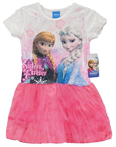DISNEY FROZEN ELSA AND ANNA TUTU DRESS GIRLS COSTUME