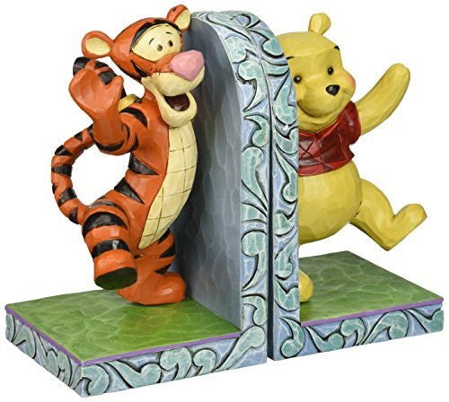 "Department 56 Disney Traditions by Jim Shore Pooh and Tigger Hugging Bookends 6.75"" - SHOPME.COM"