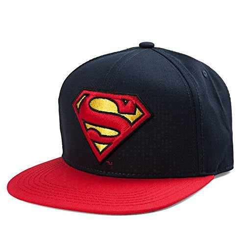 Batman or Superman Baseball Cap - Superman (Blue/Red), Blue,Red - SHOPME.COM