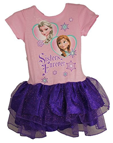 Disney's Frozen Two of Hearts Anna Elsa Youth Girls Dress (4/XS) - SHOPME.COM