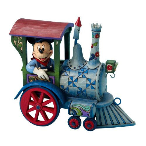 Disney Traditions by Jim Shore 4016585 Mickey Mouse Driving Train Figurine 7-1/2-Inch - SHOPME.COM