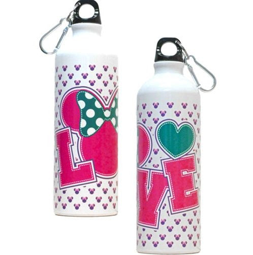 Disney Minnie Mouse Love Aluminium Water Bottle - SHOPME.COM