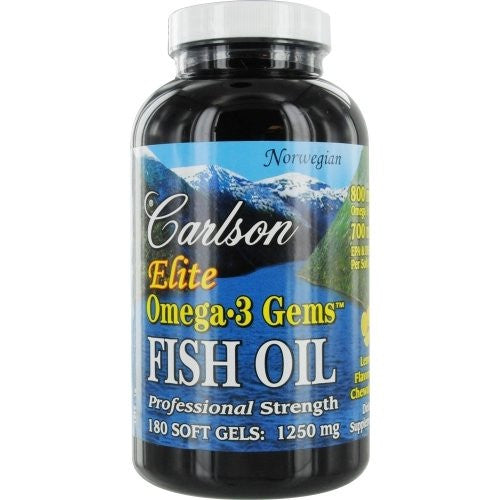 Carlson Labs Elite Omega-3 Gems Fish Oil 1250mg