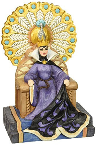 Department 56 Disney Traditions by Jim Shore Evil Queen on Throne Figurine, 9.25""