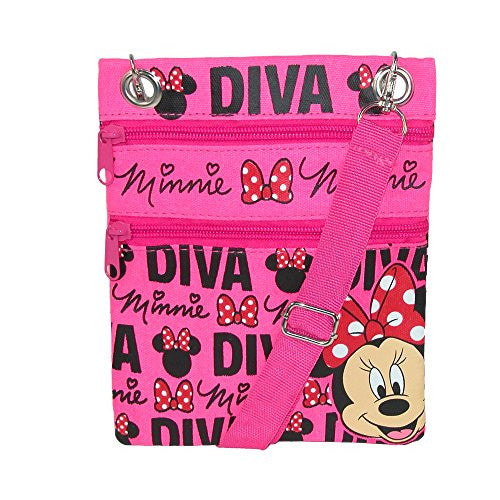 Disney Minnie Mouse DIVA Passport Bag - SHOPME.COM