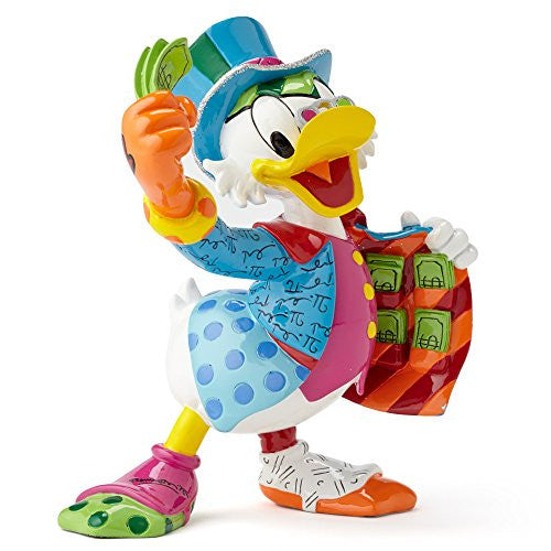 "Enesco Disney by Britto by Enesco Uncle Scrooge Figurine, 6"" - SHOPME.COM"