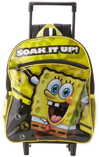 Nickelodeon Little Boys' SpongeBob Rolling Backpack, Multi, One Size - SHOPME.COM