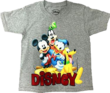 Disney Youth Boys T Shirt Happy Mickey Trio, Grey - SHOPME.COM