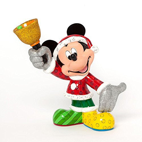 Enesco Disney by Britto Gift Gift Santa Mickey Figurine, 8.25-Inch - SHOPME.COM