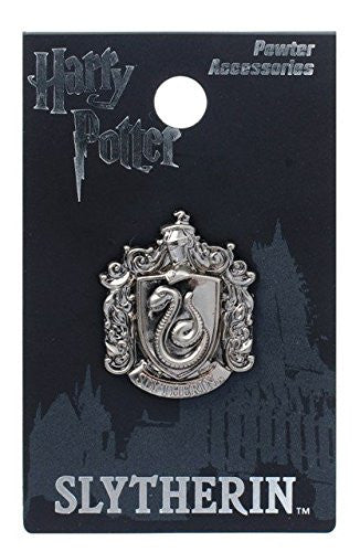 Harry Potter Slytherin School Crest Pewter Lapel Pin - SHOPME.COM