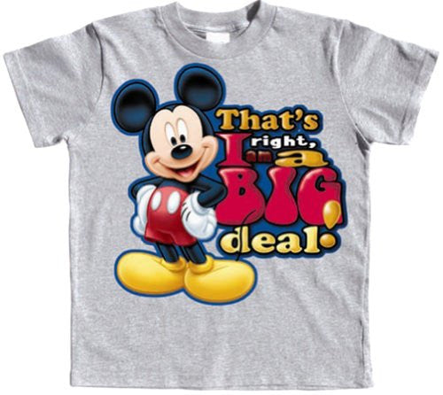 Officially Licensed Disney Toddler Mickey Mouse I'm A Big Deal T-shirt, 2T - SHOPME.COM